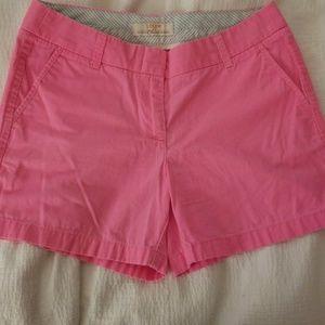 J. Crew Chino Shorts Neon Pink